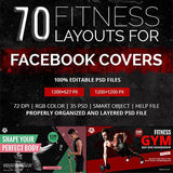 70 - Fitness Facebook Banners 4.00 watercolor action