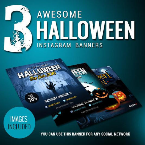 Halloween Instagram Banners - photoshop action