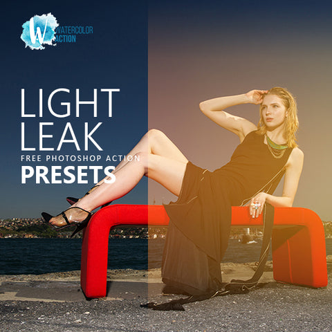 Free Photoshop Action Light Leak