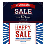 Memorial Day Facebook Banners - watercoloraction
