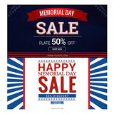 Memorial Day Facebook Banners - photoshop action