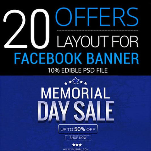 Memorial Day Facebook Banners 4.00 watercolor action