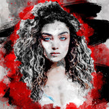 Free Mix Red Watercolor Art Photoshop Action - photoshop action