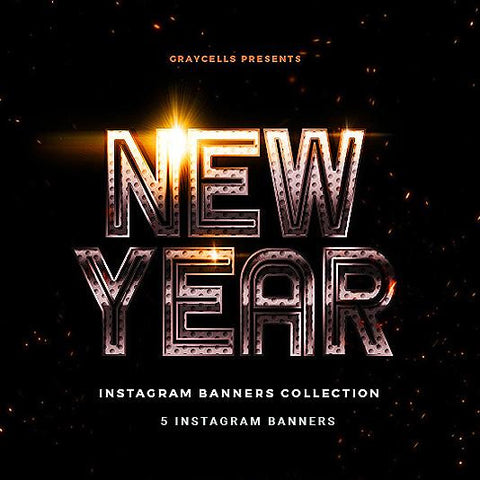 New Year Instagram Banner - photoshop action
