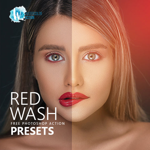 Free Photoshop Action Red Wash
