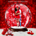 Valentine Day Animated SnowGlobe Action - watercoloraction