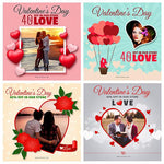 10 -Valentine Day Instagram Banners - watercoloraction