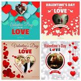 Free 10 - Valentine Day Instagram Banners - photoshop action