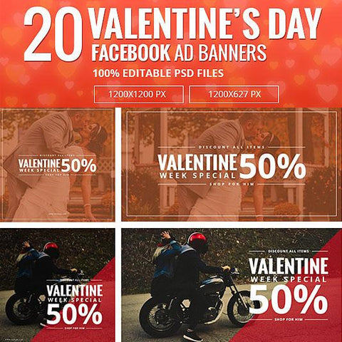 Valentine day Facebook Ad Banners-02 - photoshop action