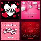 30 - Valentines Day Instagram Banners - watercoloraction