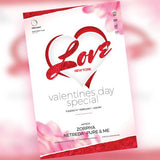 Valentines Day Party Flyer - watercoloraction