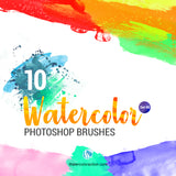 Watercolor Brushes Set 05 - photoshop action