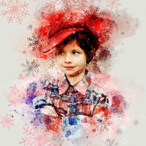 Christmas Watercolor Action - photoshop action