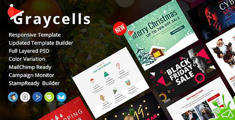 GRAYCELLS - CHRISTMAS MULTIPURPOSE RESPONSIVE EMAIL TEMPLATES