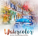 Watercolor Artist Photoshop Action - watercoloraction