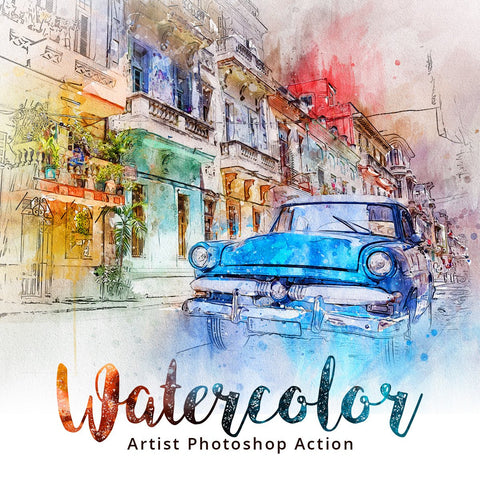 Watercolor Photoshop Artistic Action