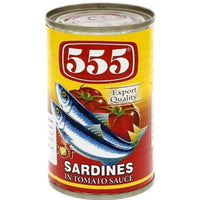 555 Sardines Hot/Chilli & Tomato Sauce 12x155g - Asian Online Superstore UK