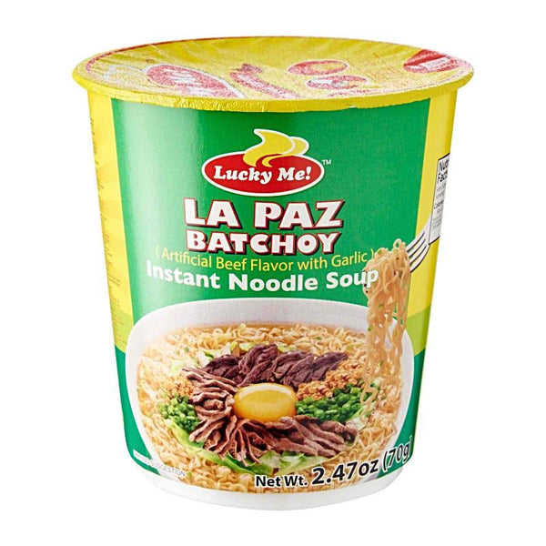Lucky Me LaPaz Batchoy (Beef Flavour) Cup Noodle 35g - Asian Online Superstore UK