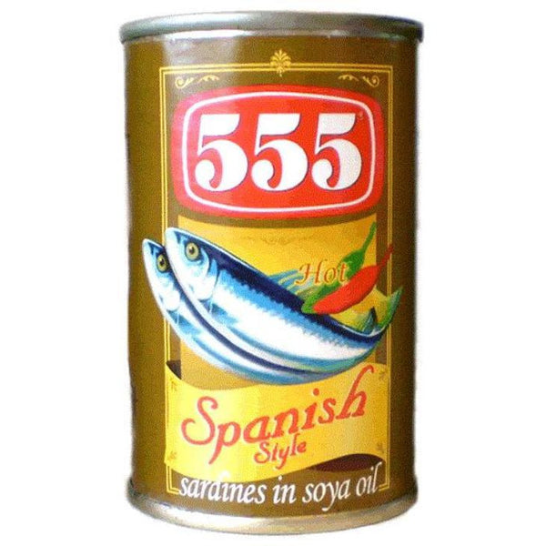 555 Spanish Style Sardines in Soya Bean Oil 12x155g - Asian Online Superstore UK