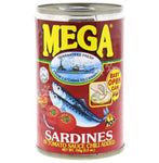 Mega Sardines in Tomato Sauce Chilli Added 155g