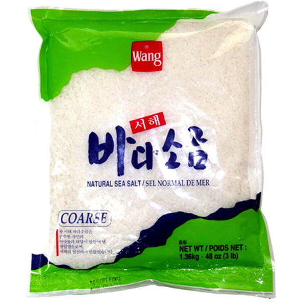 Wang Korean Sea Salt in Pack - Coarse 1.36kg - Asian Online Superstore UK