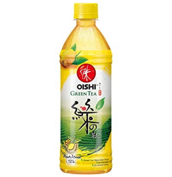 Oishi Green Tea Honey Lemon 500ml - Asian Online Superstore UK