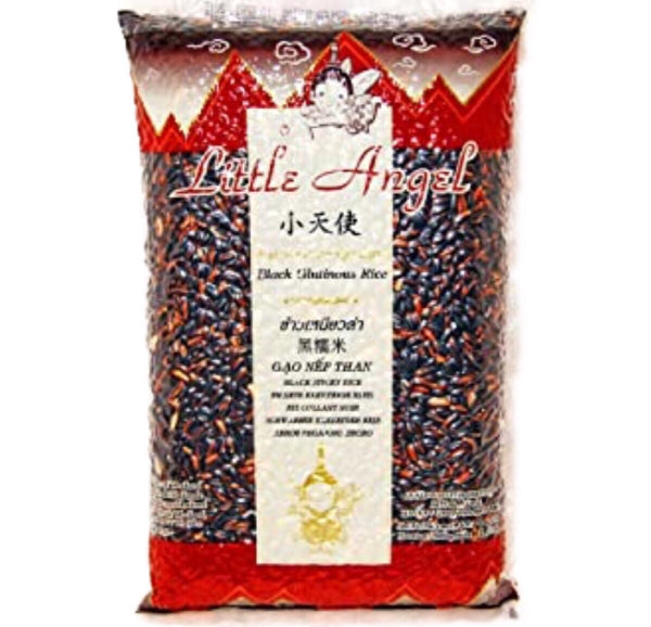 Little Angel Black Glutinous Rice (Sticky Rice) 6x1kg - Asian Online Superstore UK