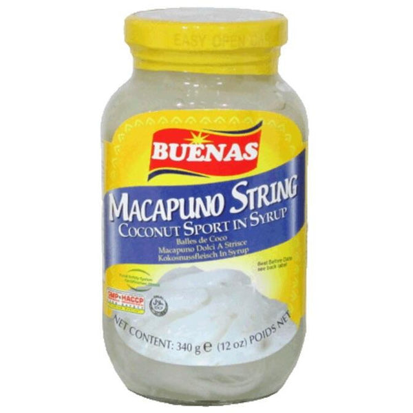 Buenas Macapuno String (Coconut Sports in Syrup-Shredded Macapuno) 340g - Asian Online Superstore UK