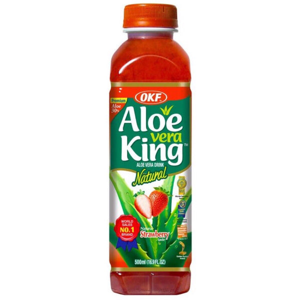 OKF Aloe Vera King Strawberry Flavour 500ml - Asian Online Superstore UK