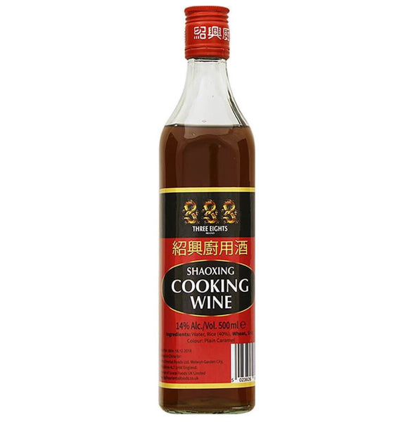 Three 8's Shaoxing Cooking Wine 500ml - Asian Online Superstore UK