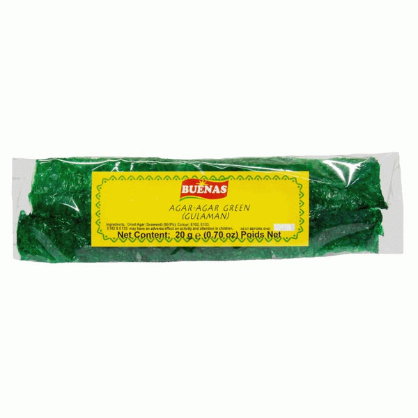Buenas Agar Agar Green Gulaman (Gelatin) 20g - Asian Online Superstore UK