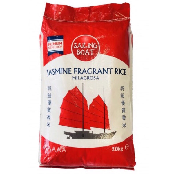 Sailing Boat Jasmine Fragrant Rice 20kg - Asian Online Superstore UK