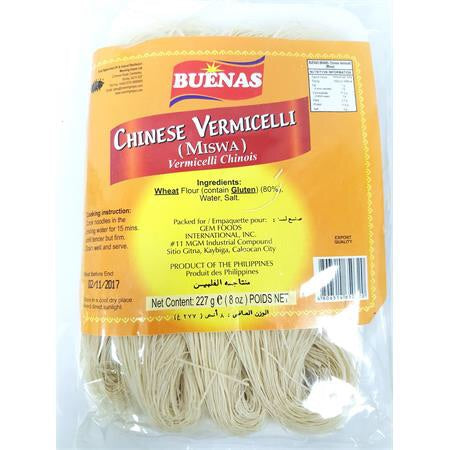 Buenas Miswa (Misua - Chinese Vermicelli) 227g - Asian Online Superstore UK