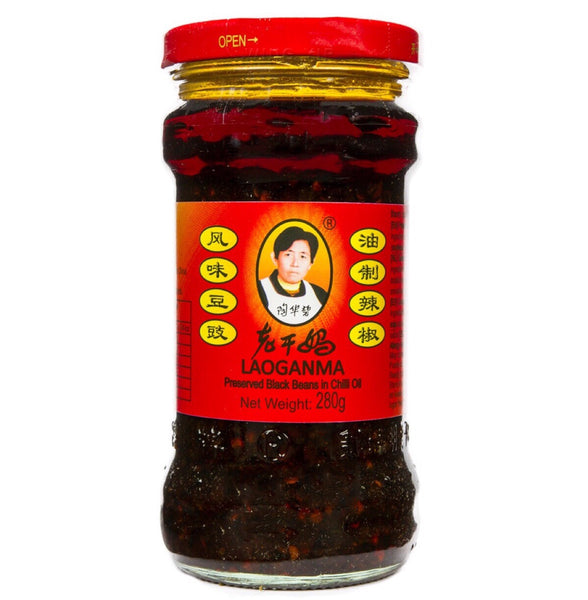 Lao Gan Ma Preserved Black Beans in Chilli Oil 280g - Asian Online Superstore UK