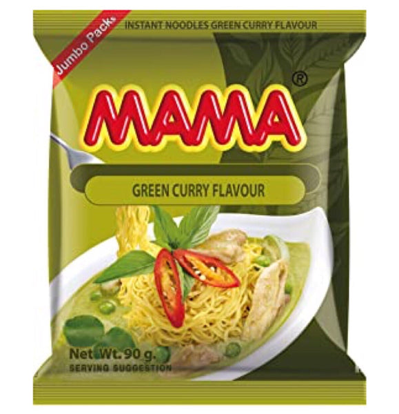Mama Noodle Green Curry (Jumbo Pack) 90g - Asian Online Superstore UK