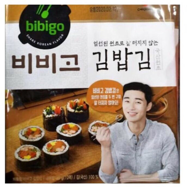 CJ Bibigo Kimbap Roasted Laver Seaweed 1pack(10 sheets) - Asian Online Superstore UK