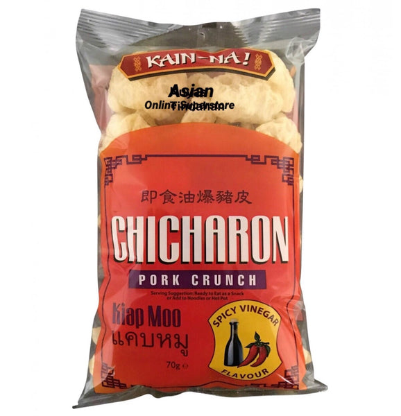 Kain-Na Chicharon Pork crunch Spicy Vinegar 70g - Asian Online Superstore UK