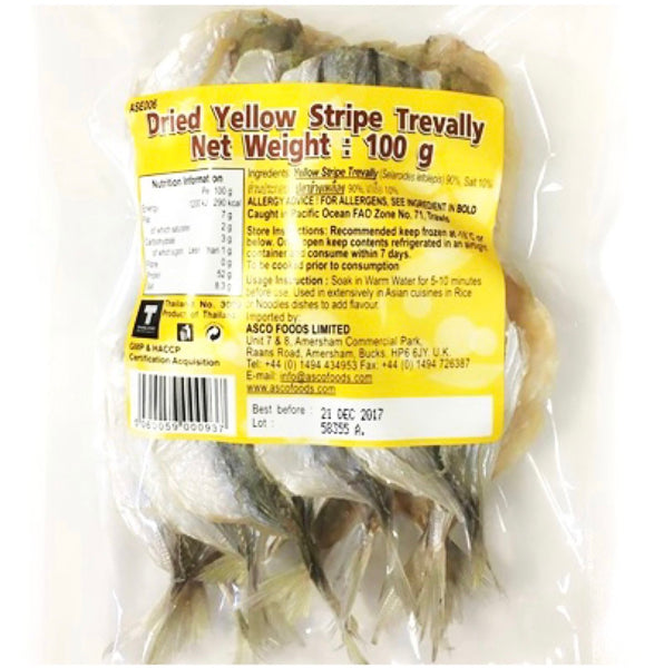 Asian Seas Dried Yellow Stripe Trevally (Danggit) 100g