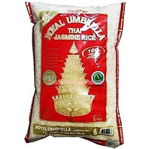 Royal Umbrella Thai Jasmine Rice 2kg - Asian Online Superstore UK