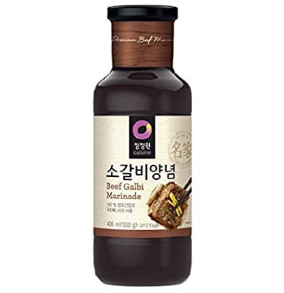 Chung Jung One Beef Galbi Marinade (Beef Rib BBQ Sauce) 500g - Asian Online Superstore UK
