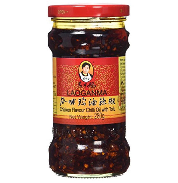 Lao Gan Ma Chicken Flavour Chilli Oil With Tofu 280g - Asian Online Superstore UK