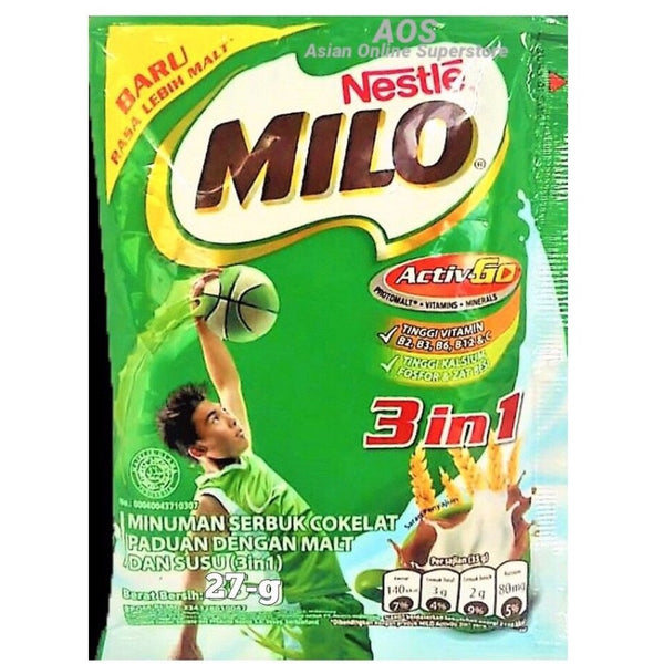 Nestle Milo 3-1 sachet 27g - Asian Online Superstore UK