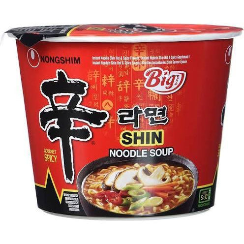 Nongshim Shin Big Bowl Cup Noodle Ramyun 114g - Asian Online Superstore UK