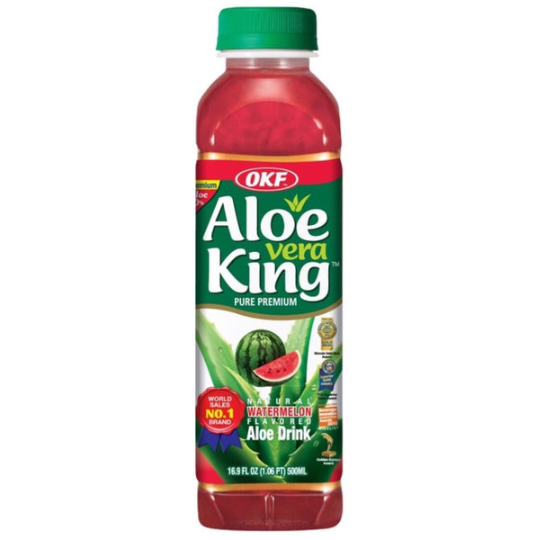 OKF Aloe Vera King Watermelon Flavour 500ml - Asian Online Superstore UK