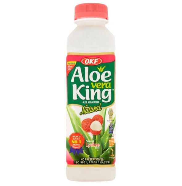 OKF Aloe Vera King Lychee Flavour 500ml - Asian Online Superstore UK