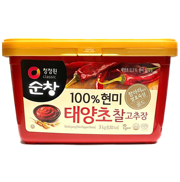 Chung Jung One Gochujang Brown Rice Red Pepper Paste (Square) 3kg