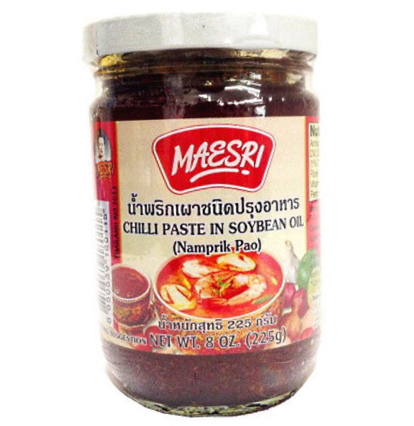 Mae Sri Chilli Paste in Soy Bean Oil (Namprik Pao) 225g - Asian Online Superstore UK