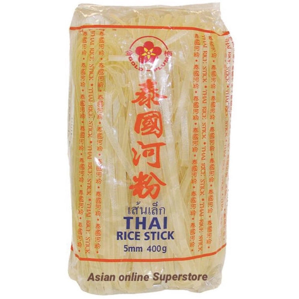 Gold Plum Rice Sticks Noodle (5mm) 400g - Asian Online Superstore UK