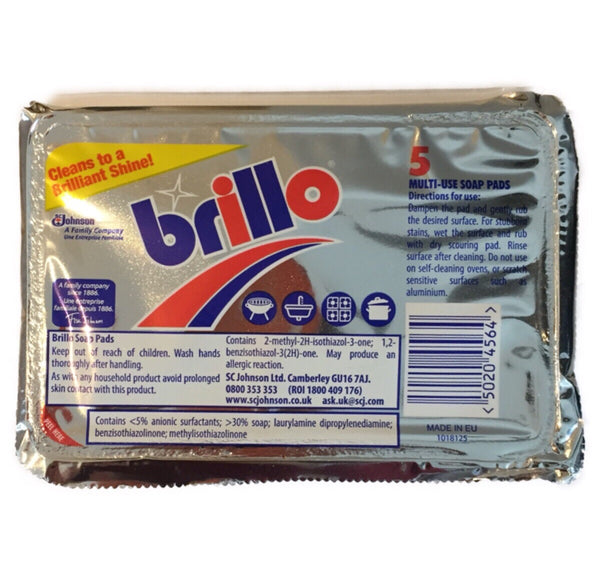 Brillo Soap Pads (5Pads) - Asian Online Superstore UK
