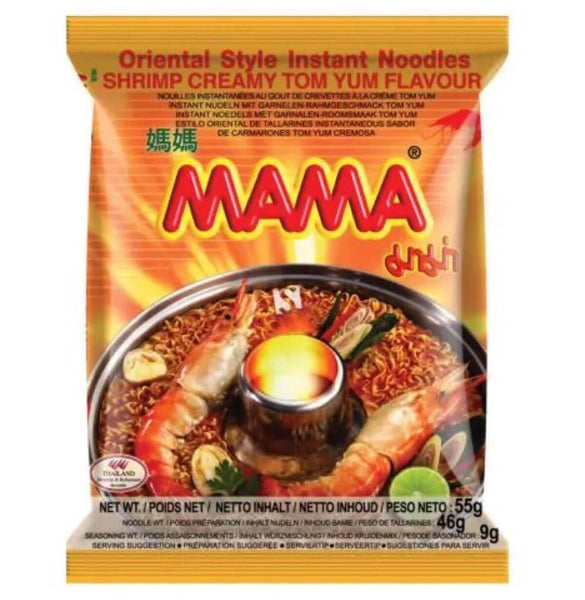 Mama Shrimp Creamy Tom Yum Instant Noodle 55g - Asian Online Superstore UK